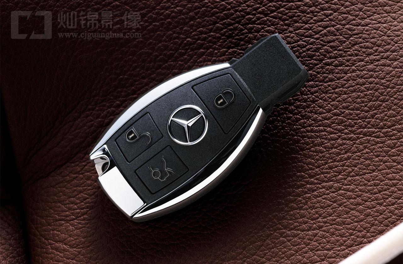奔驰e-class 遥控钥匙摄影
